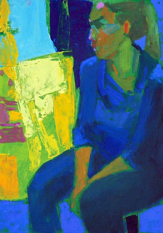 Clarisa . óleo sobre tabla . 35 x 25 cm . 2018