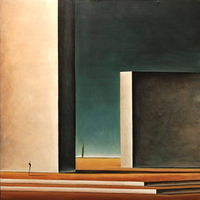 Gustavo Boggia . Miedos y Muros, La Condición Humana . acrílico sobre lienzo . 90 x 90 cm . 2018