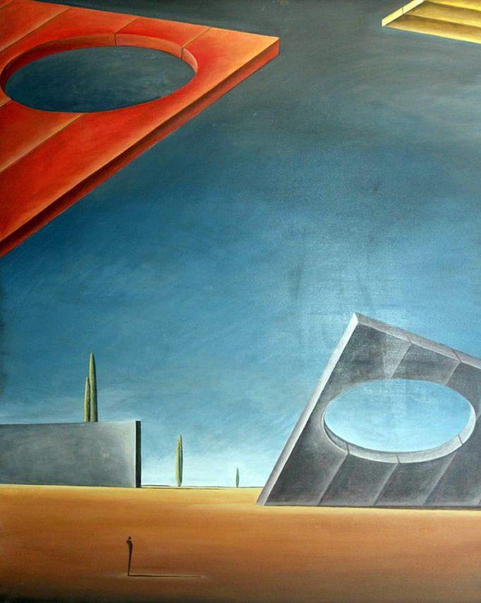 Gustavo Boggia . La Fragilidad del Tiempo . acrílico sobre lienzo . 120 x 150 cm . 2017