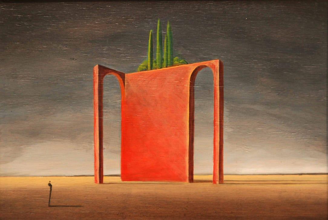 Gustavo Boggia . El Silencio del Tiempo . acrílico sobre tabla . 29 x 42 cm . 2015