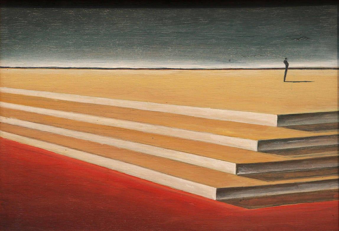 Gustavo Boggia . La Escalinata del Princio Presso la Montagnola . acrílico sobre madera . 30 x 40 cm . 2015