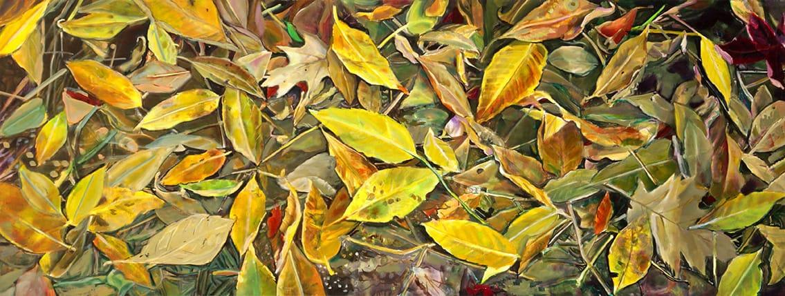 Daniel Kaplan . Grafismos . óleo sobre lienzo . 76 x 200 cm . 2019