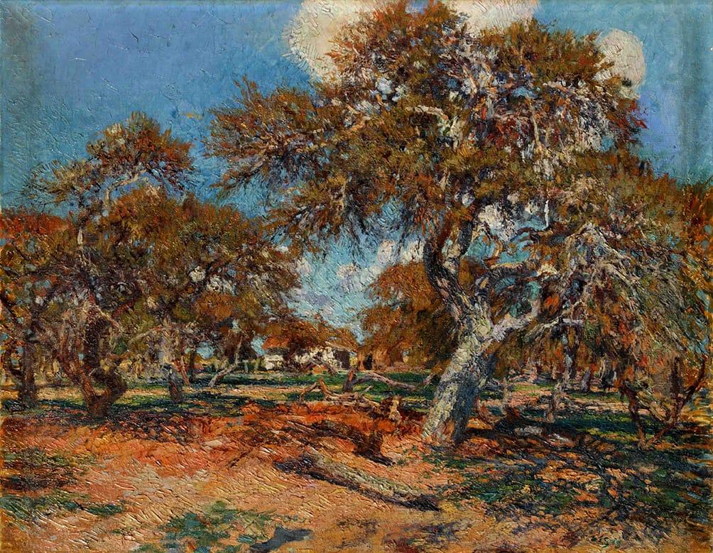 Cesáreo Bernaldo de Quirós . Los Algarrobos, Entre Ríos . óleo sobre lienzo . 91 x 116 cm . 1923