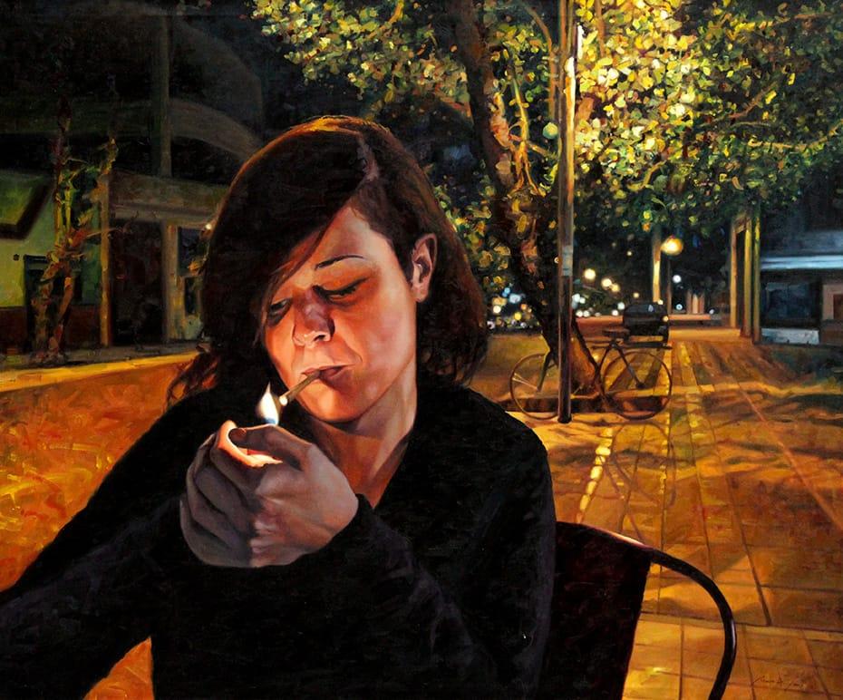 Mauro Cano . Eclipse . óleo sobre lienzo . 100 x 120 cm . 2019