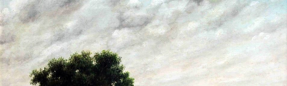 Florencio Molina Campos . Con Corral de Palo a Pique . óleo sobre cartón . 56 x 71 cm . 1942