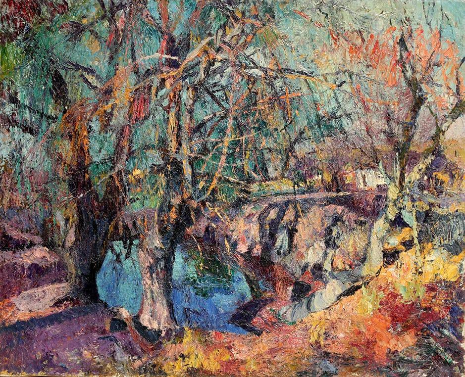 """""""Estanque en Invierno"""" . óleo sobre lienzo . 89x109cm. . 1925"""