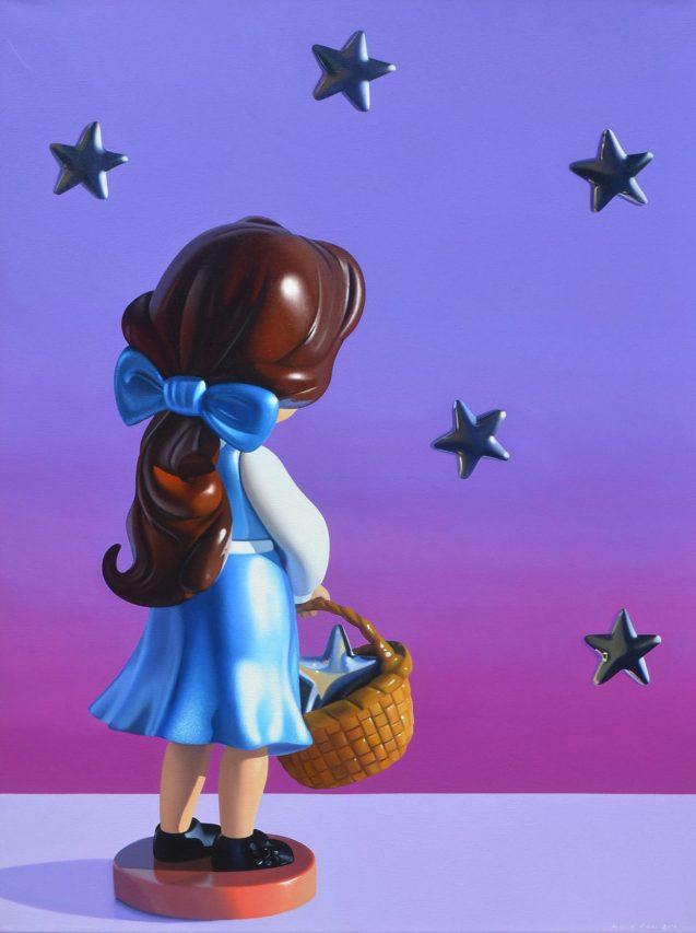 Recolectora de Estrellas . óleo sobre lienzo . 80 x 60 cm . 2019