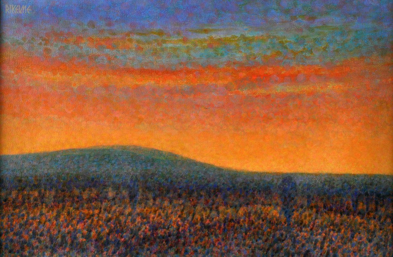 Viene Clareando . óleo sobre lienzo . 40 x 60 cm . 1994