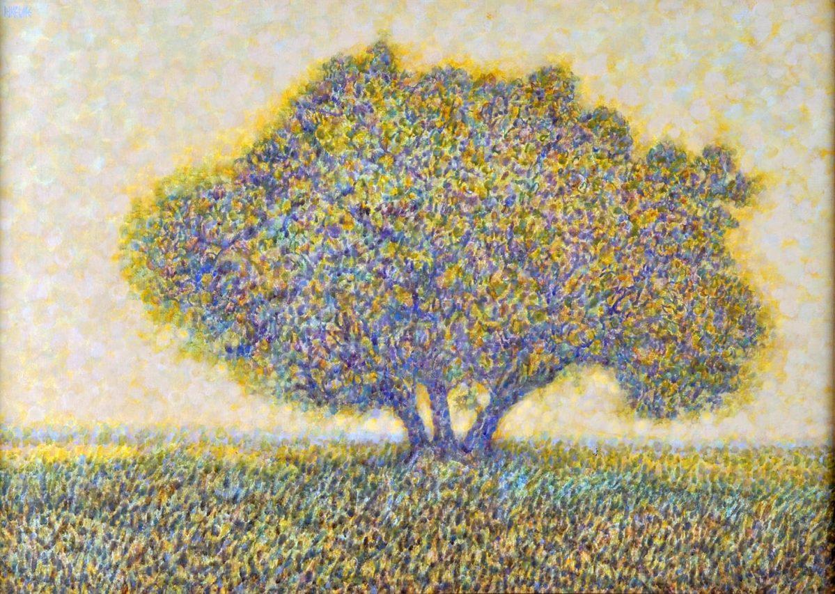 Con Altiva Presunción . acrílico sobre lienzo . 50 x 70 cm . 1995