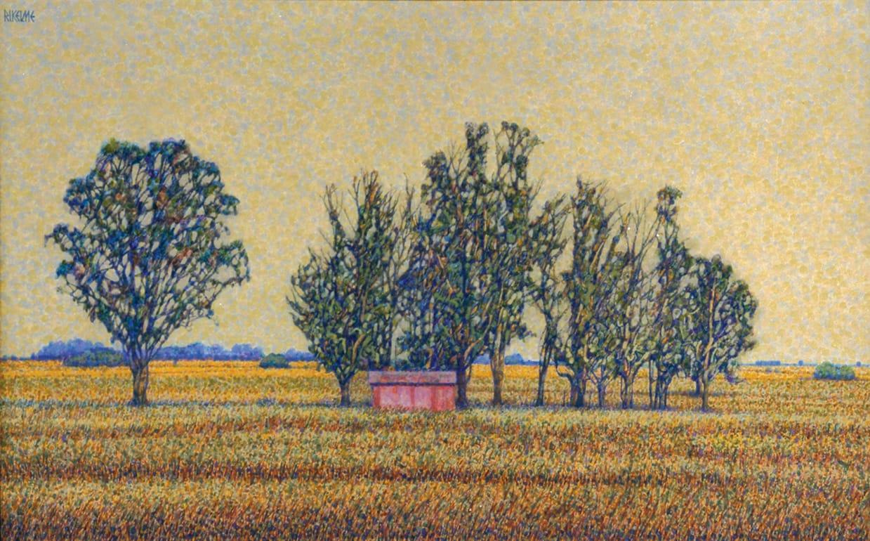 El Puesto . acrílico sobre lienzo . 40 x 65 cm . 1997