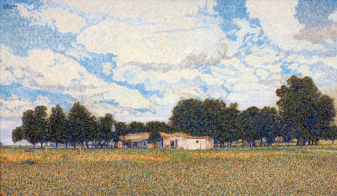 El Casco . óleo sobre lienzo . 50 x 85 cm . 1998