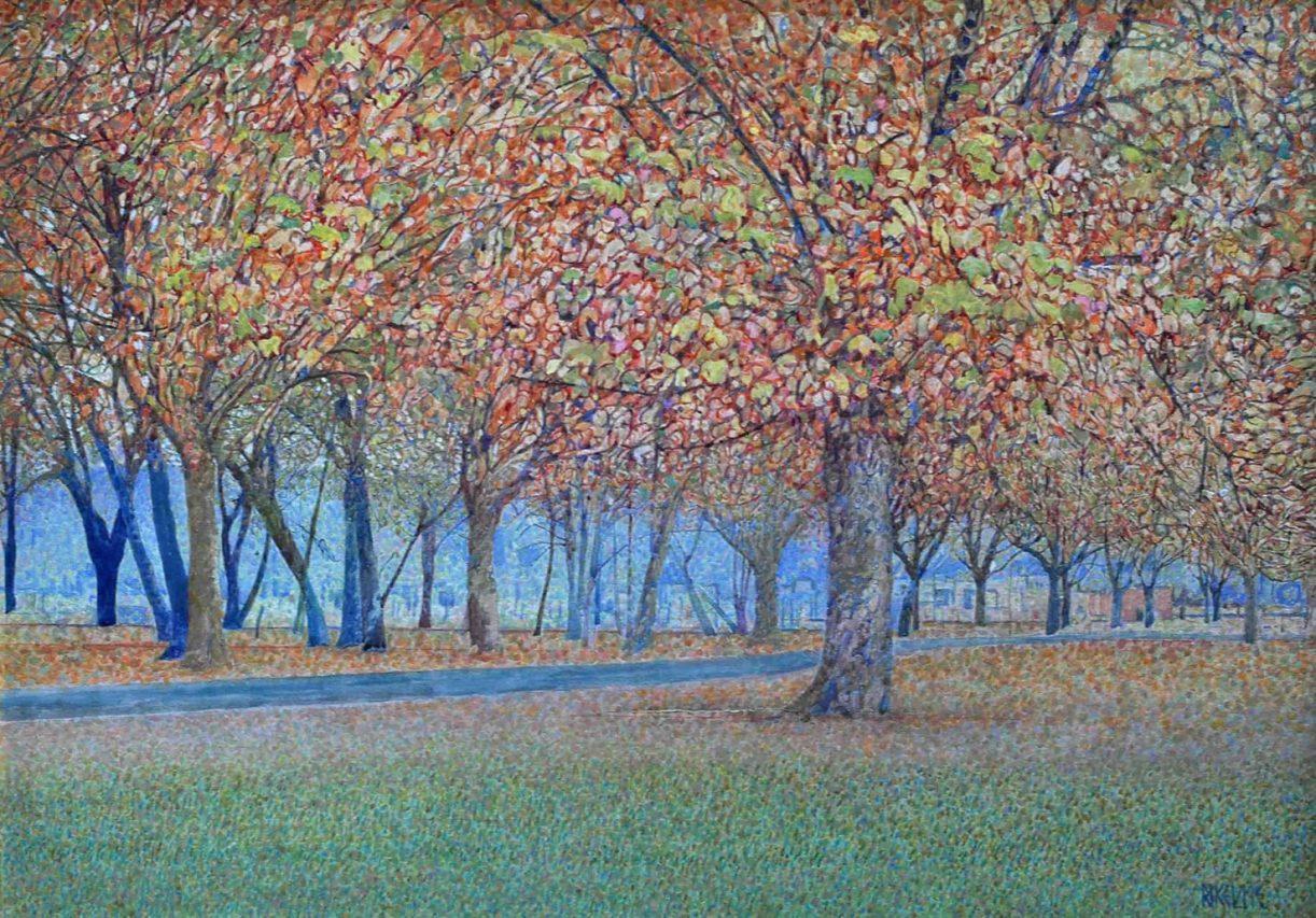 Parque Otoñal . acrílico sobre lienzo . 50 x 70 cm . 1997