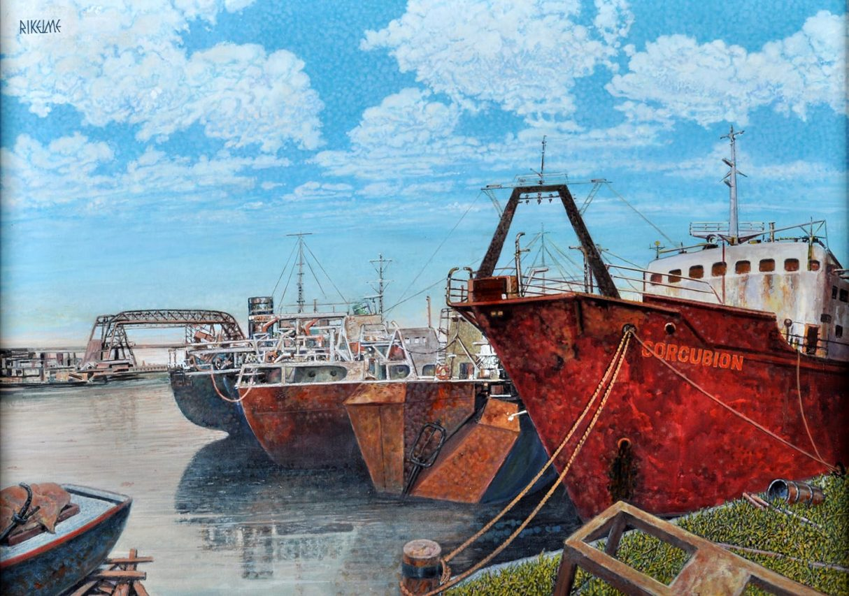 Nostalgias del Riachuelo . óleo sobre lienzo . 50 x 70 cm . 2006
