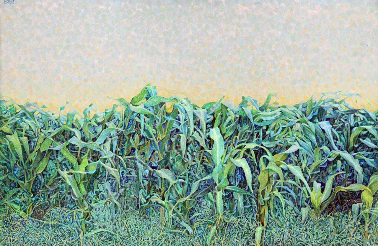 Maizal . acrílico sobre lienzo . 80 x 120 cm . 2000