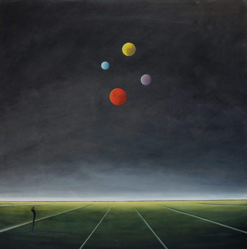 La Percepción del Infinito . acrílico sobre lienzo . 150 x 150 cm . 2018
