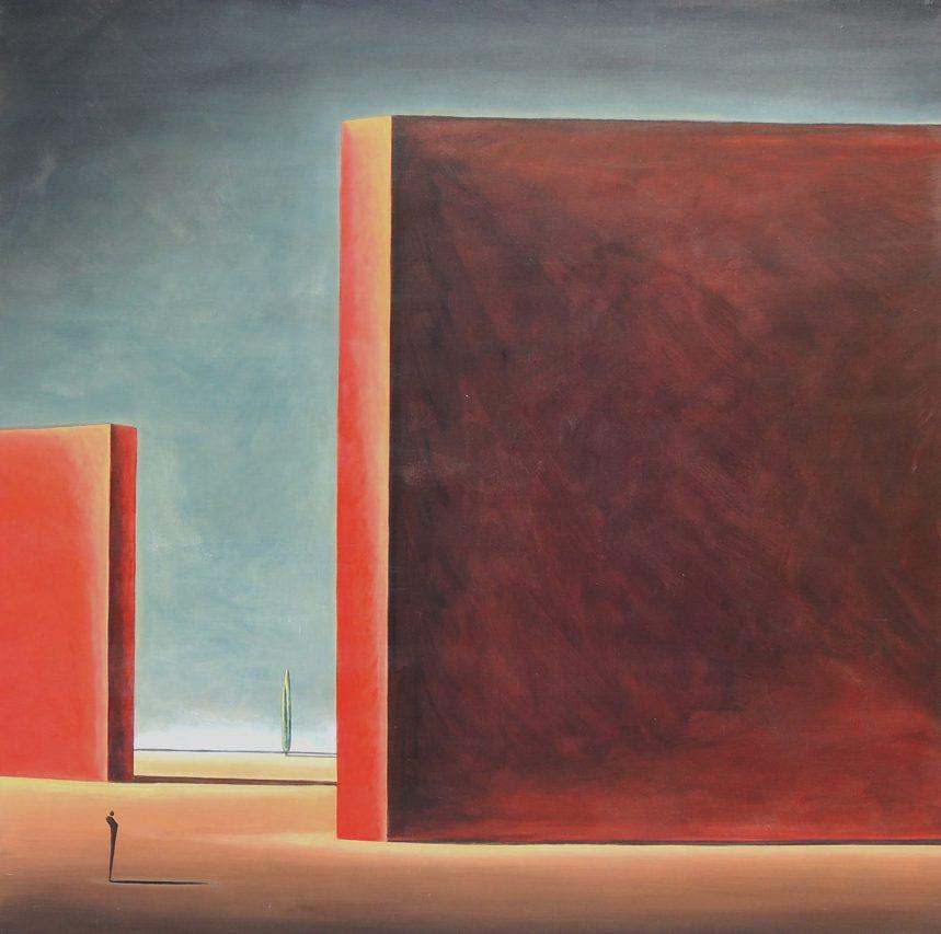 El Camino del Alquimista . acrílico sobre lienzo . 150 x 150 cm . 2018