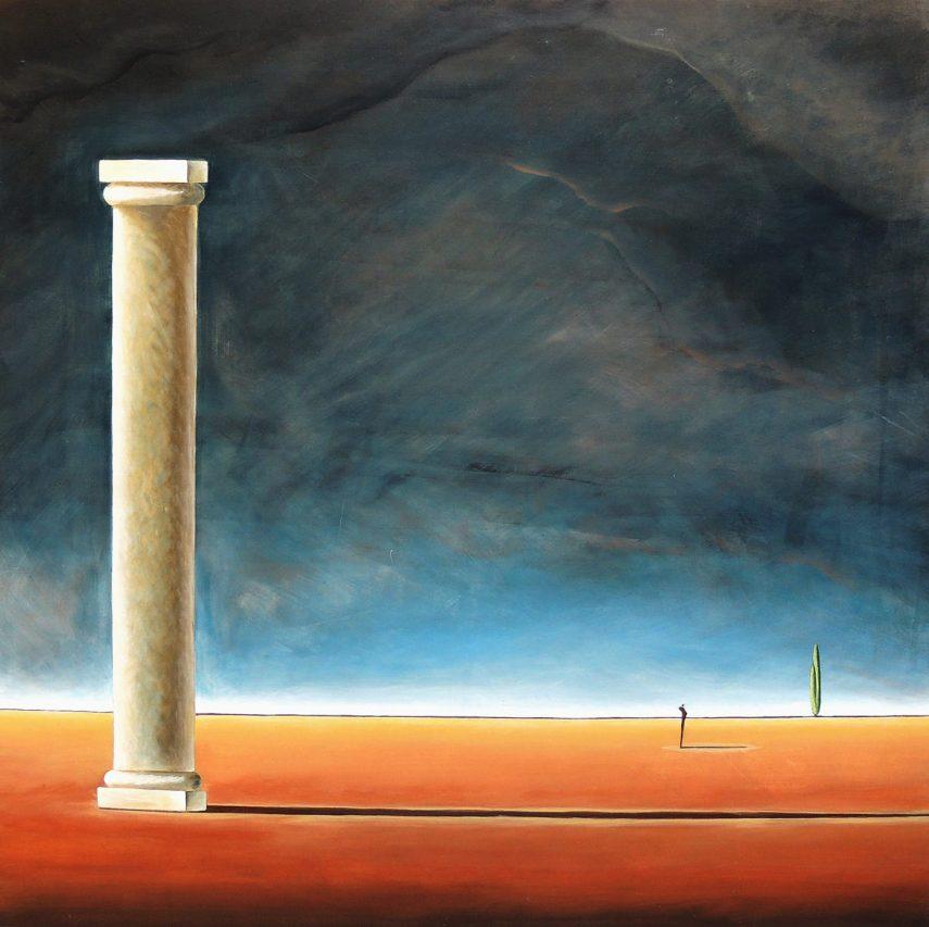 Una Soledad Perenne . acrílico sobre lienzo . 150 x 150 cm . 2018