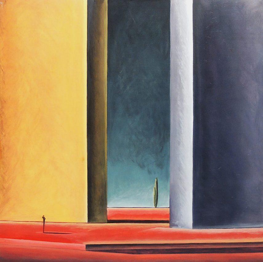 La Indiferencia del Tiempo . acrílico sobre lienzo . 100 x 100 cm . 2018