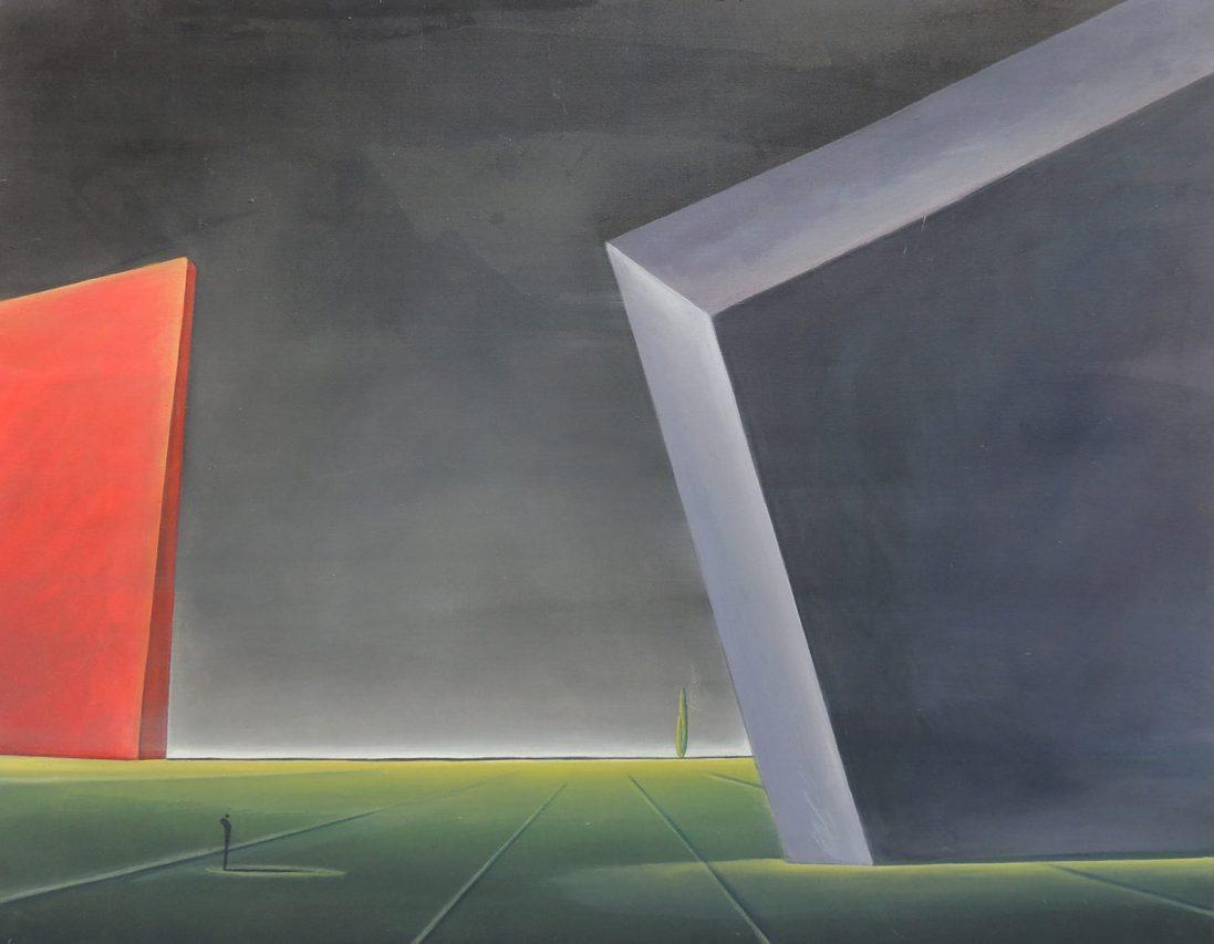 El Ocaso del Sueño . acrílico sobre lienzo . 90 x 110 cm . 2018
