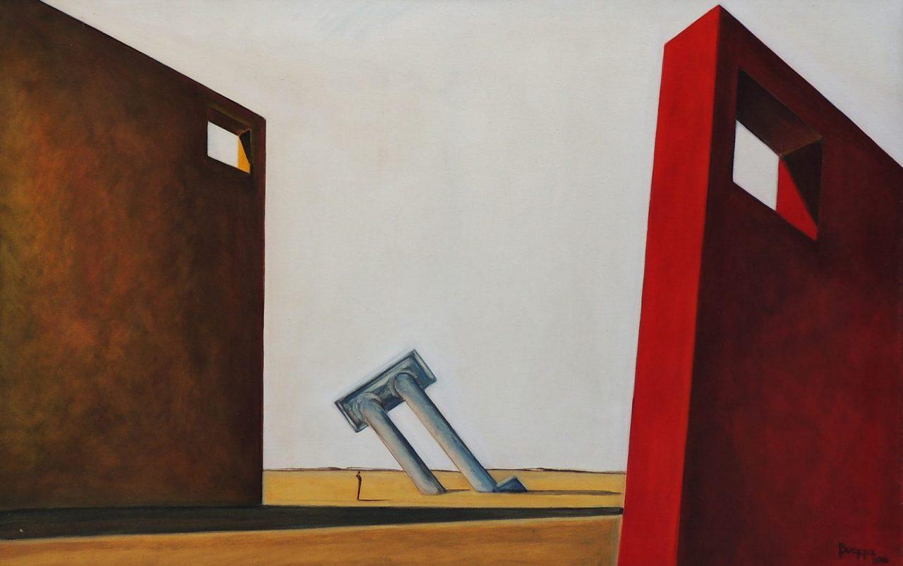 Los Vértices del Tiempo . acrílico sobre lienzo . 80 x 120 cm . 2008