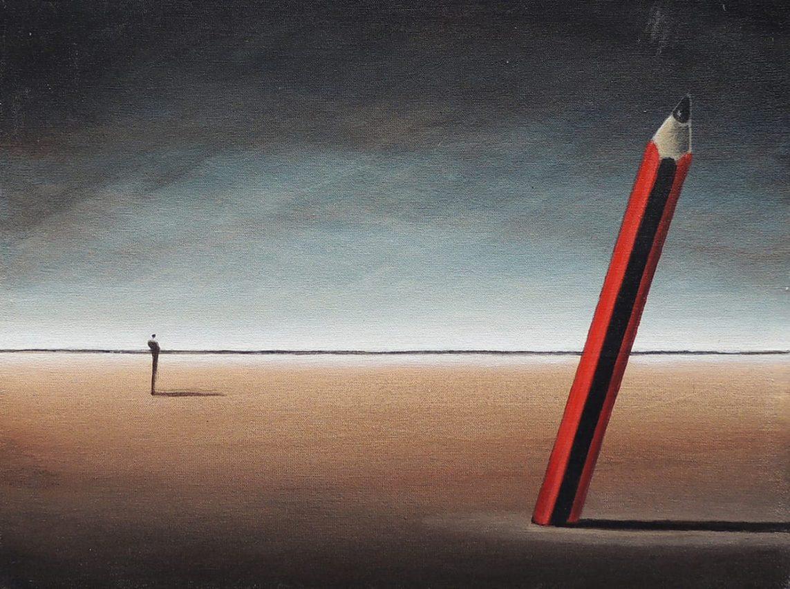 La Paranoia del Dibujante . acrílico sobre lienzo . 30 x 40 cm . 2017