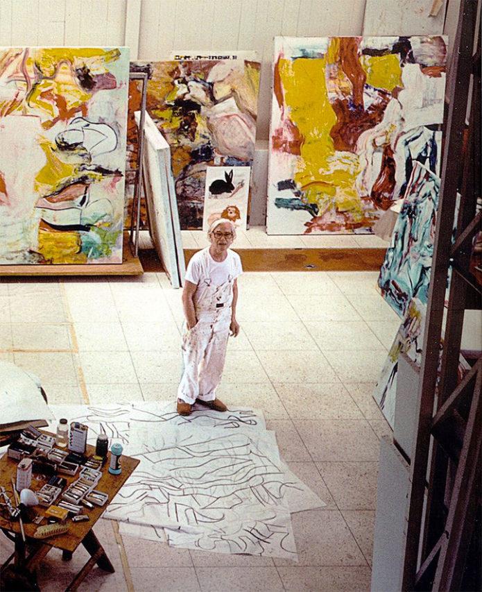 1. De Kooning en su estudio.