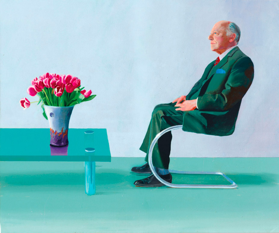 """Retrato de Sir David Webster"", Hockney."