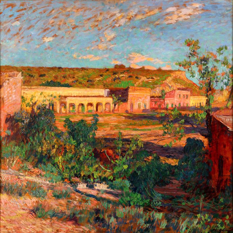 24500 Cesáreo Bernaldo de Quirós . Luz Primera . óleo sobre tabla . 80 x 80 cm . 1943