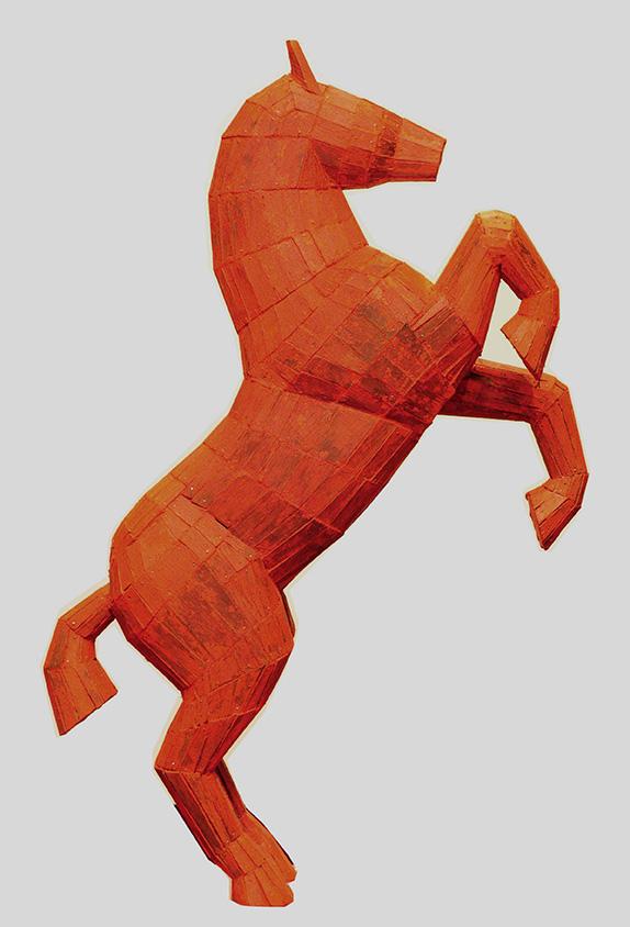33980 Claudio Barragán . Caballo de Fuego . madera . 77 x 52 x 20 cm . 2013
