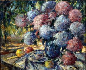 37285 Cesáreo Bernaldo de Quirós . Rincón del Jardín . óleo sobre cartón . 62 x 76 cm . 1912