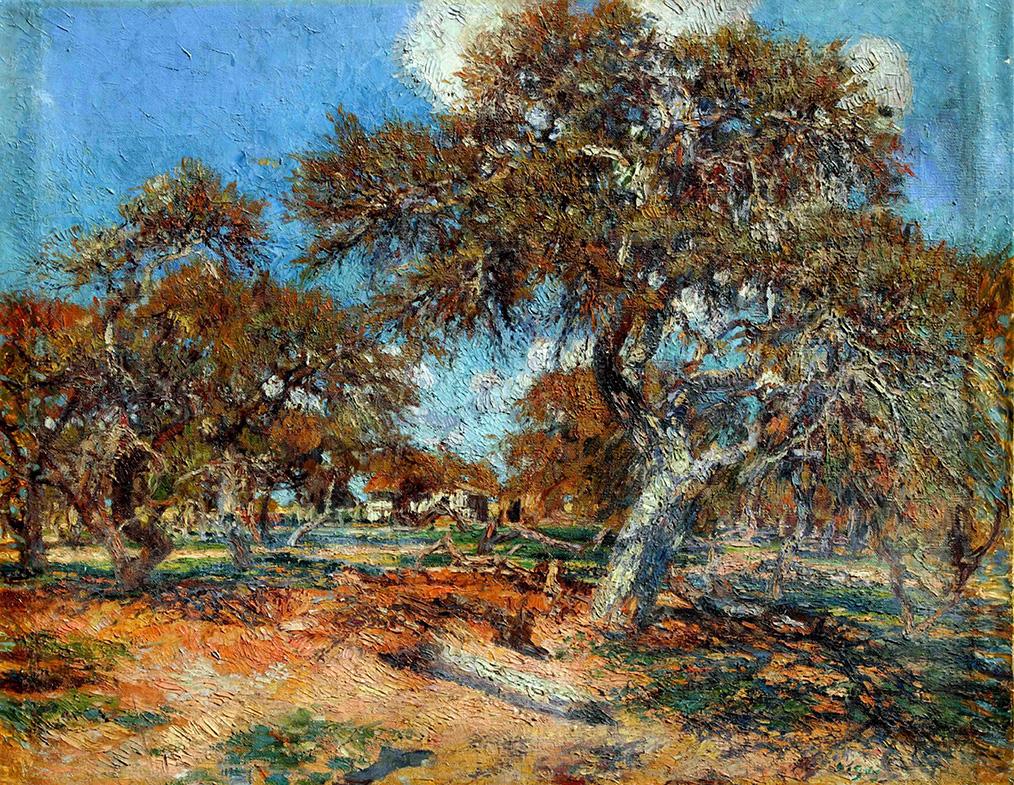 39506 Cesáreo Bernaldo de Quirós . Los Algarrobos, Entre Ríos . óleo sobre lienzo . 91 x 116 cm . 1923