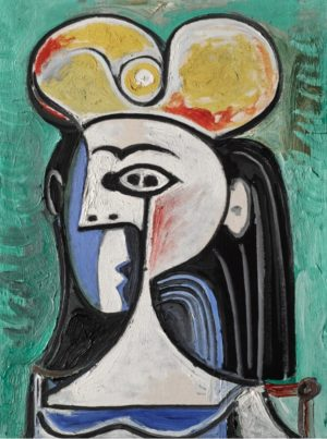 Retrato de Jacqueline, última mujer de Picasso.
