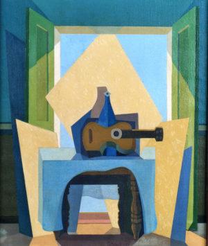"""""""El Mantel Azul"""", emblemática obra del autor."""