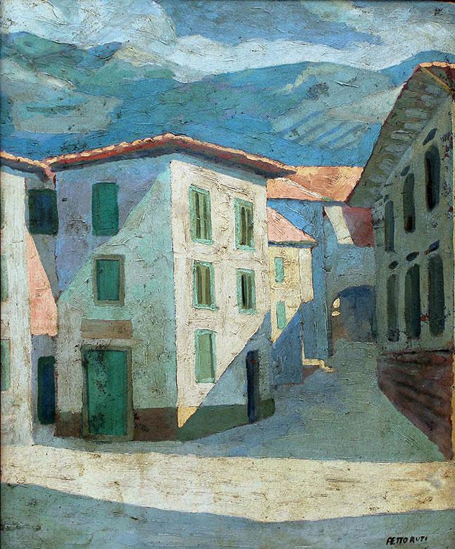 """""""Tremosine, Italia"""", sus primeras obras italianas."""