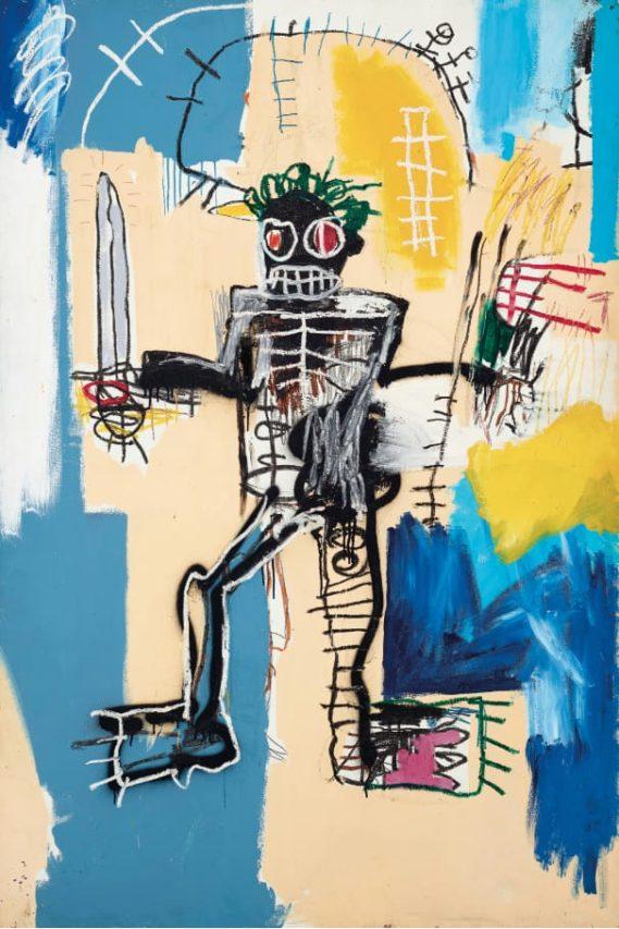 """Guerrero"" de Basquiat vendido en 42 millones."