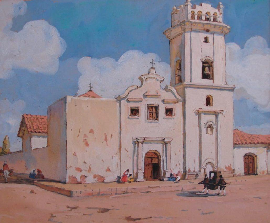 Iglesia de la Compañía, Santa Fe, 1933.