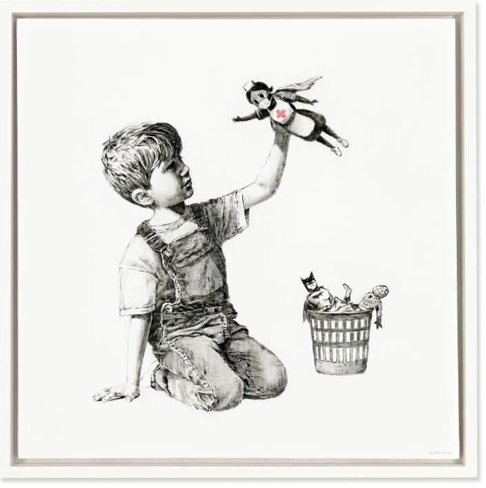 Banksy vendido en 23 millones.