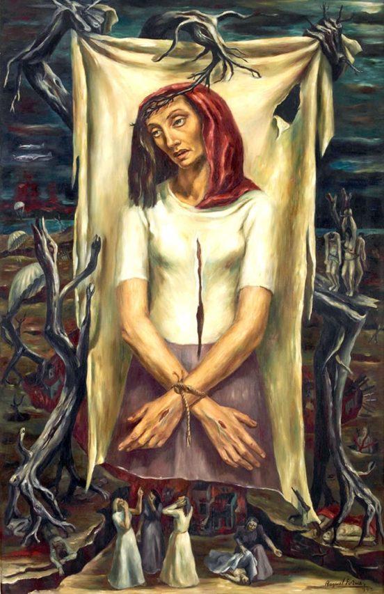 """""""Retablo del dolor"""", obra de Raquel Forner."""