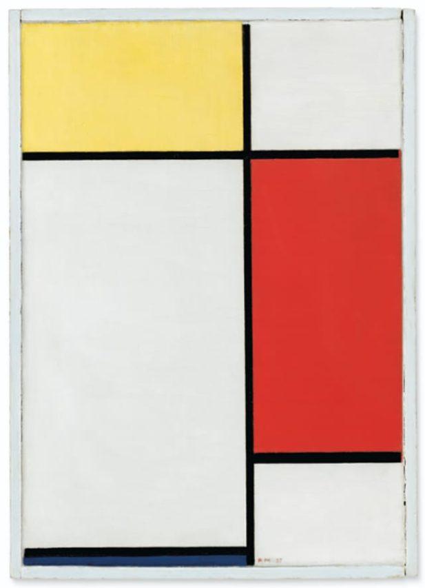 Piet Mondrian, 28 millones por pequeño de 50 x 35 cm.