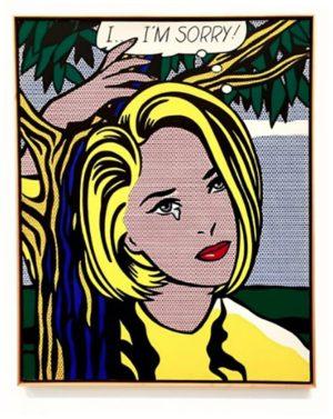 Obra de Roy Lichtenstein comprada con tarjeta de crédito.