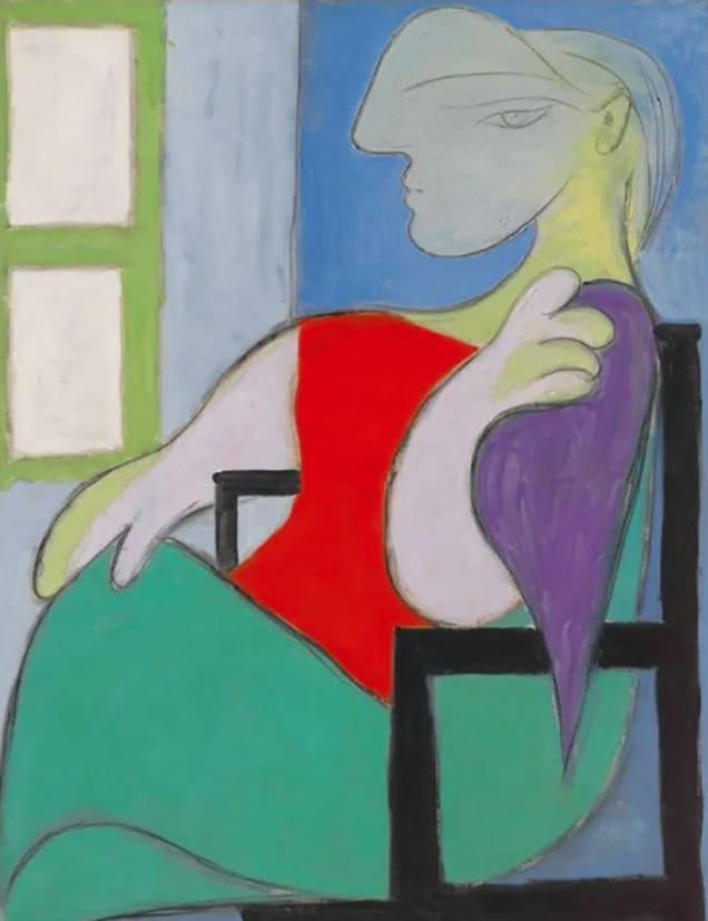 Mujer sentada junto a una ventana, vendida en 103 millones.