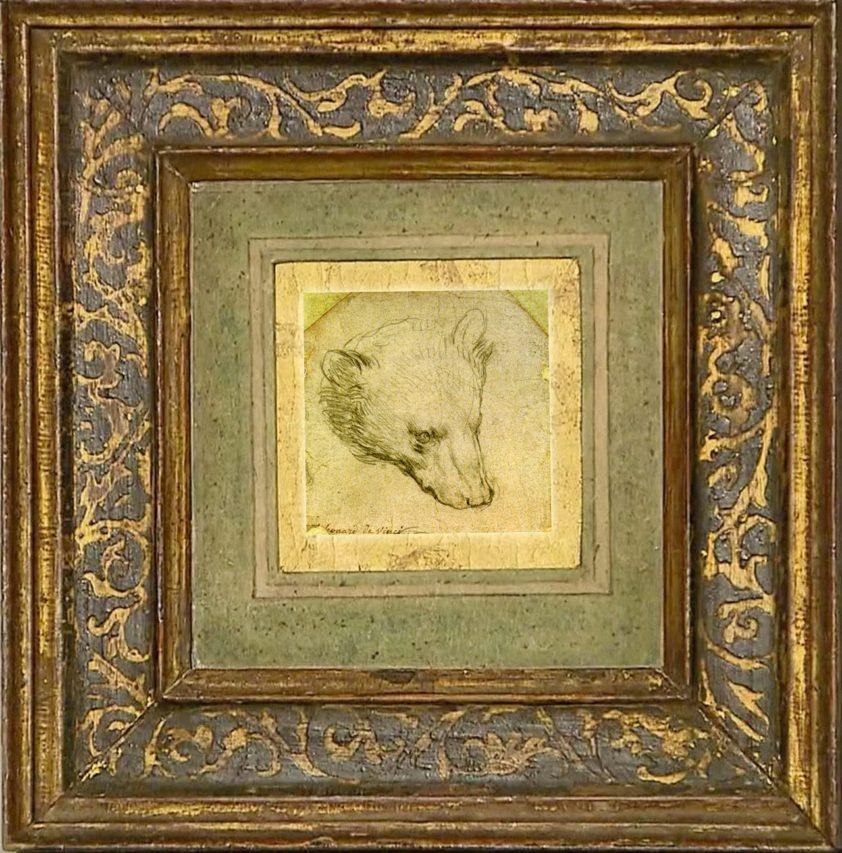 Da Vinci, dibujo de 7 x 7 cm.