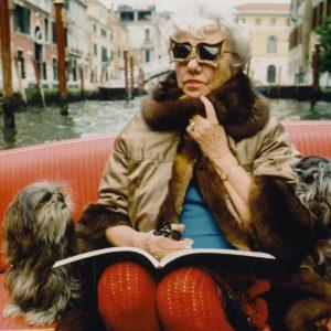 Peggy Guggenheim en su amada Venecia.