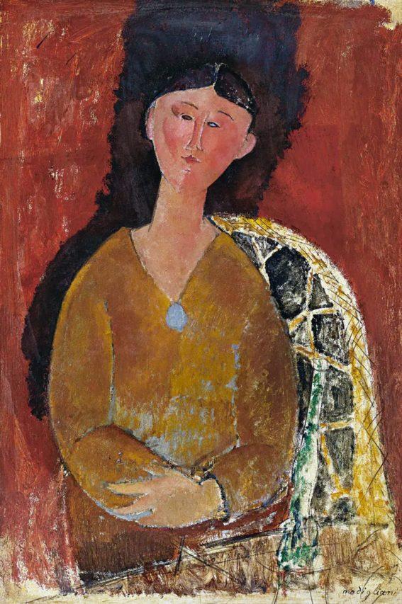 Beatrice Hastings por Modigliani.