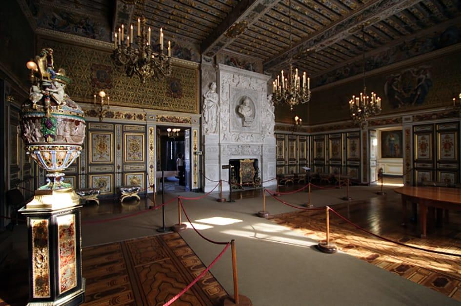 Interior del Palacio Fontainebleu, Francia.