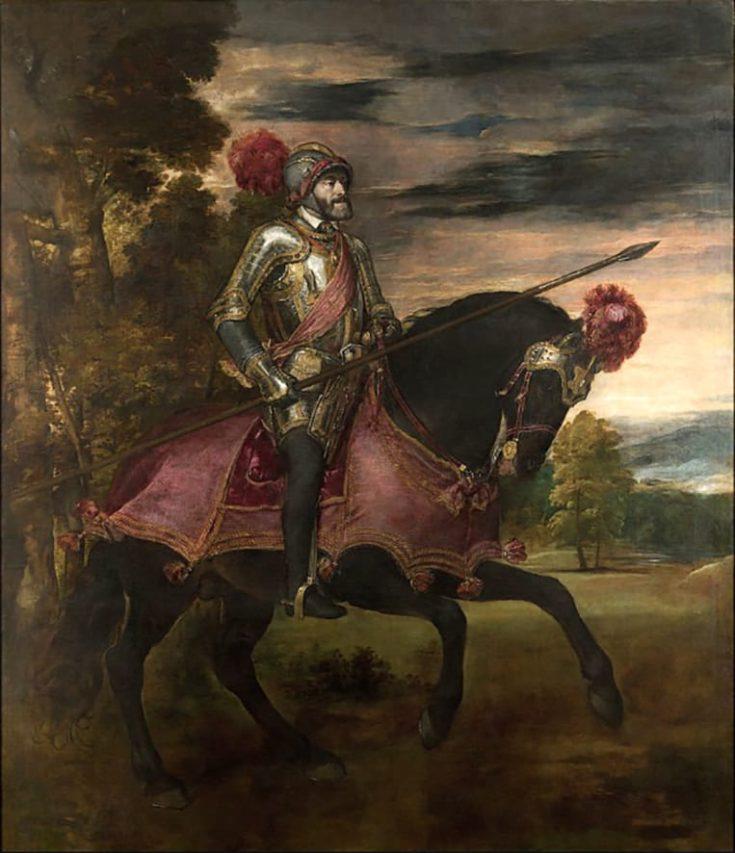 Retrato de Carlos V a caballo, 1548.
